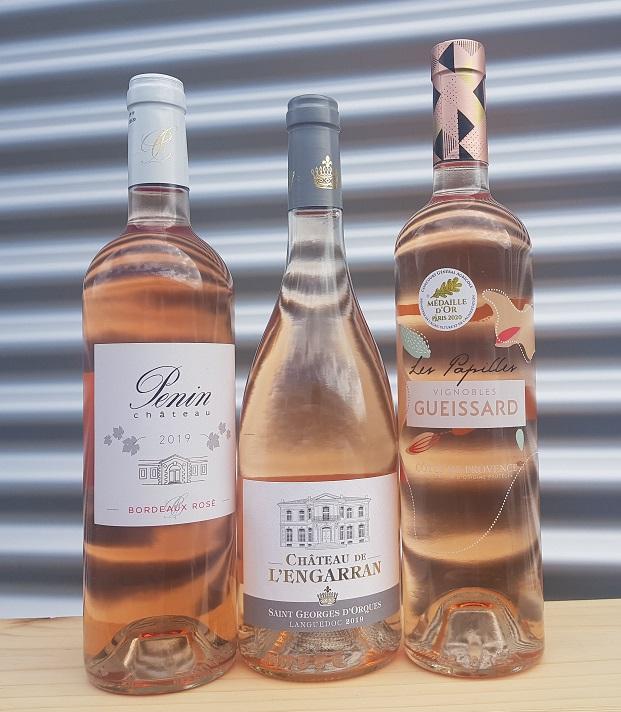 3 heerlijke flessen rosé: Penin, Engarran & Gueissard