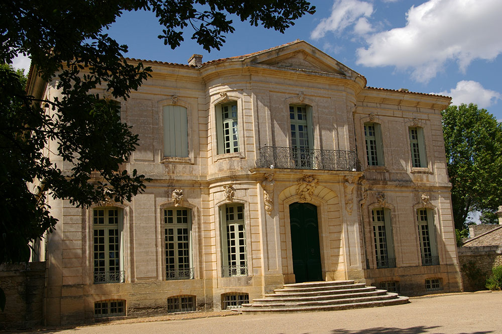 Het statige Château de l'Engarra in Lavérune, nabij Montpellier