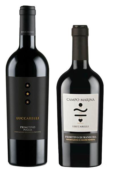 5x Primitivo Luccarelli + 1 x Primitivo di Manduria.